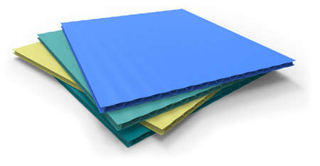 Plastic corrugated sandwich panels