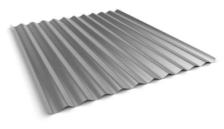 Corrugated sheet of metal 写真素材