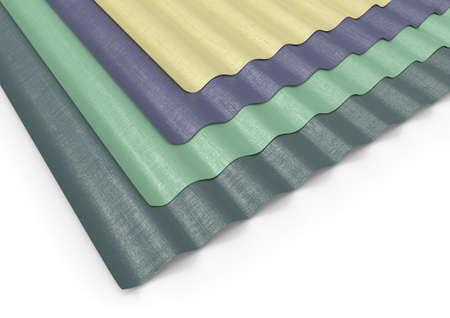 Corrugated sheets of plastic 写真素材