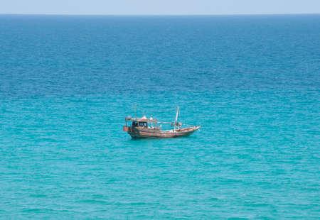 Fishing boat in ocean near Socotra island, Yemen