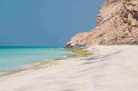 Deserted beach. Socotra island, Yemen