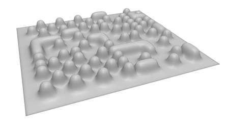 Electronic microscope imaging of atoms (imitation)