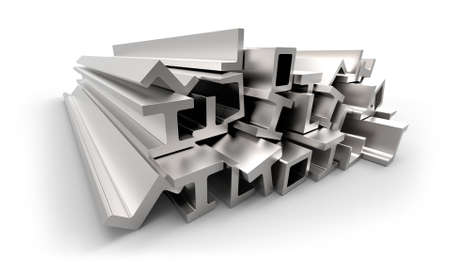 Structural metal shapes 스톡 콘텐츠