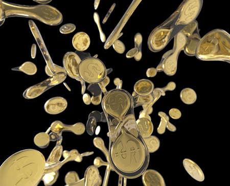 Dividing coins like biological cells