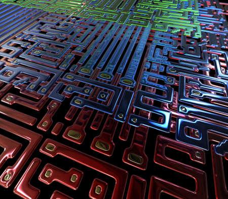 Circuito abstracto dentro de microchip.