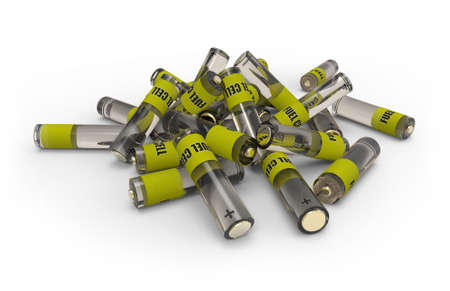 Heap of fuel cells Stock Photo