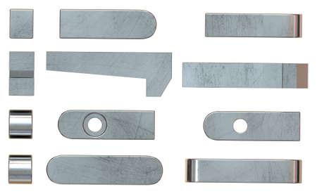 Machine keys isolated on white 免版税图像