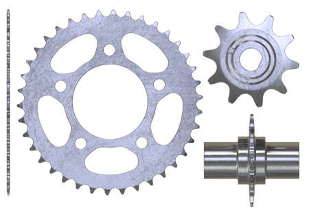 Bicycle sprockets isolated on white