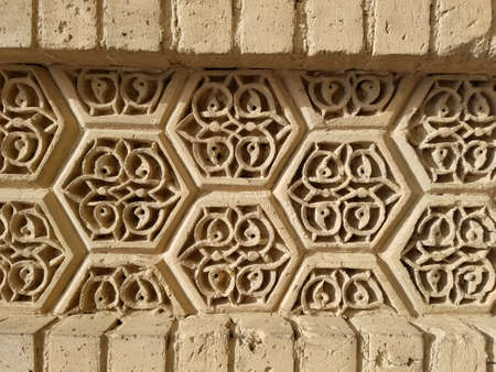 Ornament wall from ruins in Iraq