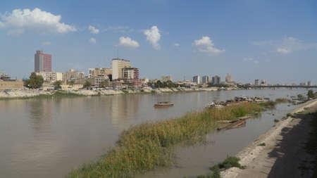 Tigris river in Baghdad, Iraq