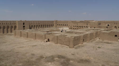 Al Ukhaidir Fortress in Iraq Imagens