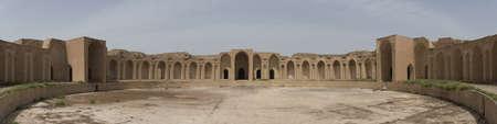Het kaliefpaleis in Samarra, Irak