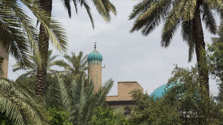 Mosque minaret in Baghdad city, Iraq