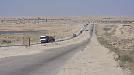 Highway road near Karbala city, Iraq