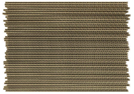 Corrugated fiberboard isolated on white