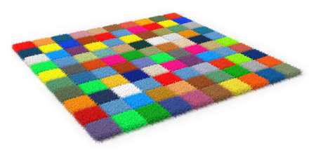 Colorful carpet samples isolated