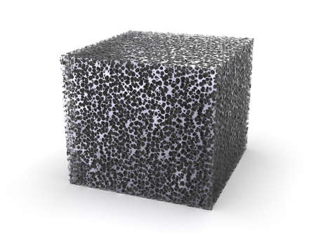 Metal foam isolated on white
