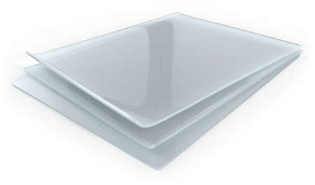 Thick transparent silicon rubber sheets isolated on white Reklamní fotografie