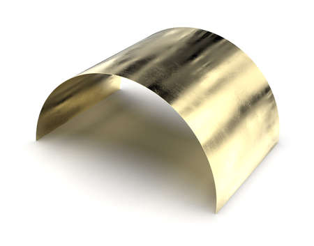 Brass sheet isolated on white Reklamní fotografie