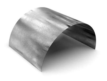 Stainless steel sheet isolated on white Reklamní fotografie