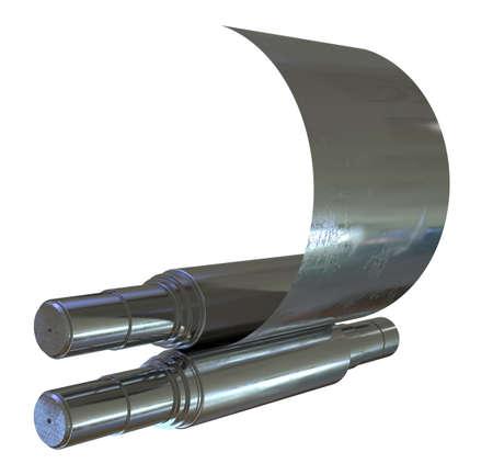 Metal rolling isolated on white Reklamní fotografie