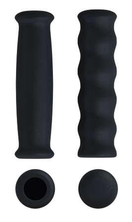Soft rubber foam handlebar grips isolated on white