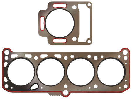 Engine head gasket isolated on white