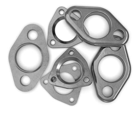 Exhaust flange gaskets isolated on white