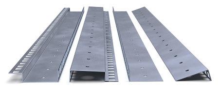 Steel Rack Strip isolated on white Фото со стока