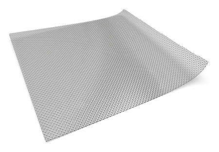 Metal mesh isolated on white