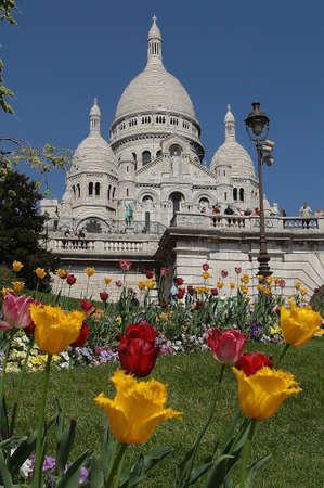 coeur: The Sacre coeur church in Paris Stock Photo