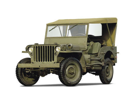 allies: Army car isolated on white background