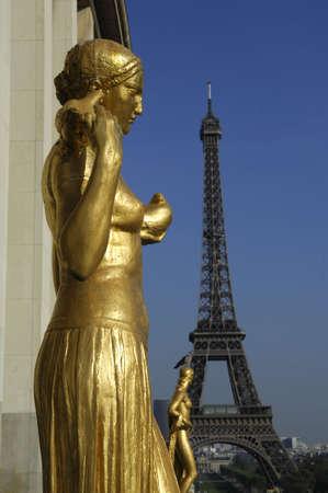 trocadero: Place du Trocadero, Paris, France Stock Photo