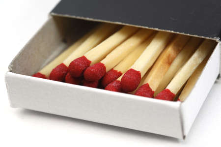 matchbox on a white background Stock Photo - 2461230