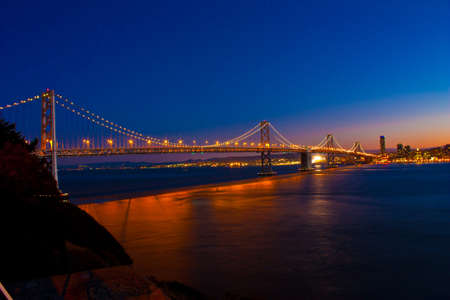 San Francisco Bay Bridge taken from Treasure Island Stock Photo - 9958968