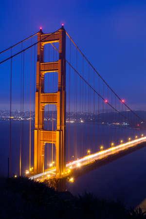Golden Gate bridge from Marin headlands photo