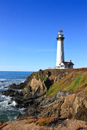 lighthouse on the california coast taken on a clear day Stock Photo - 11936335