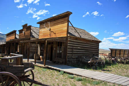 ghost town left in open plains to rot photo