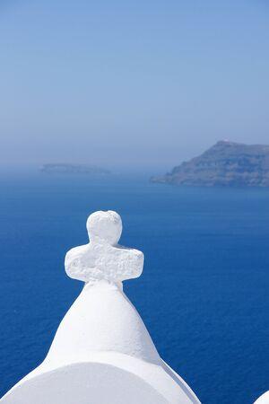 god bless: God Bless, Santorini island. Stock Photo