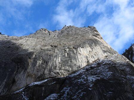 Landscape view at winter carpathian sight