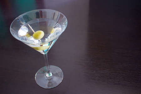 Martini cocktail on a dark table