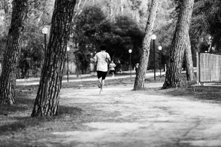 Running Alone Stock Photo