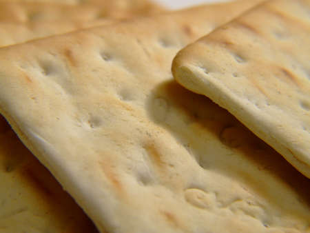 layers of crackers Stock Photo