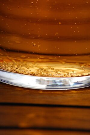 a pint of cider in a glass outside Stock Photo - 1269484