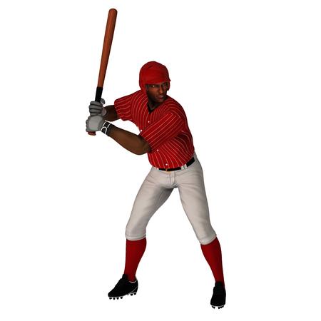 Black Baseball Batter 写真素材