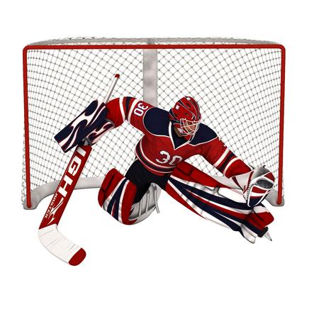 Hockey Goalkeeper Banco de Imagens