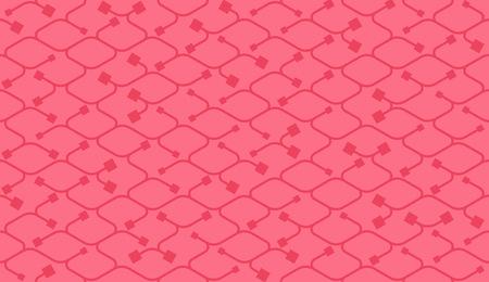 endings: Isometric seamless pattern. Net lines background.