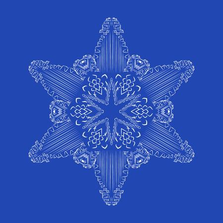 Snowflake detailed christmas vector illustration
