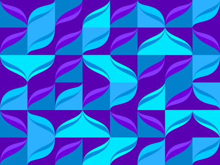 Seamless pattern from blue color tiles background