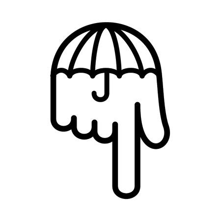 accessory: Parasol hand pointer down icon